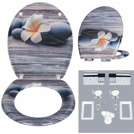 WC-Sitz aus Duroplast mit Absenkautomatik in Design