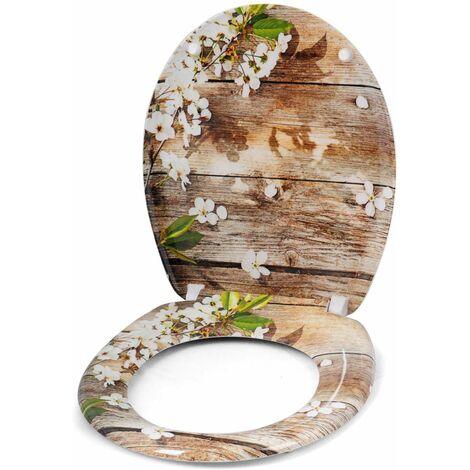 WC-Sitz Duroplast mit Absenkautomatik weisse