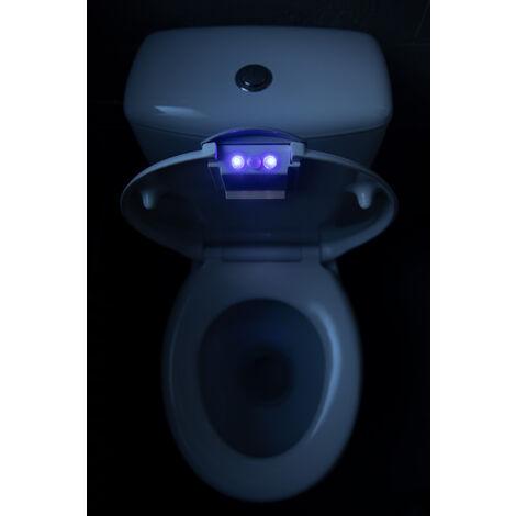 WC Sitz grau mit Softclose Absenkautomatik – Toilettensitz mit LED Beleuchtung abnehmbar mit Quick Release – einfache Reinigung der O Form