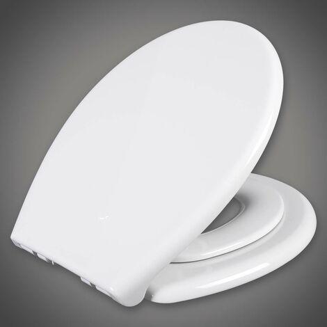 WC-Sitz Kunststoff Weiß mit Absenkautomatik 90