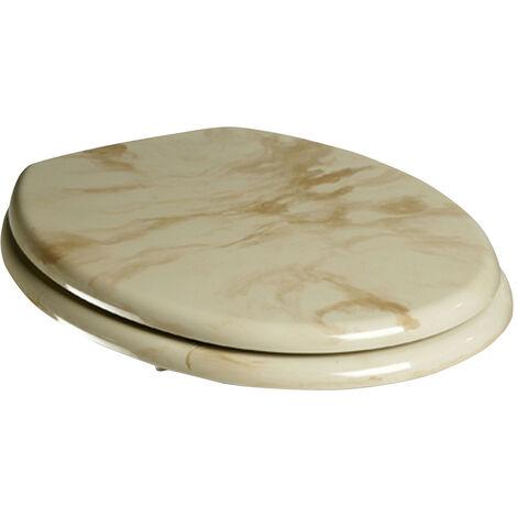 WC-Sitz Marmor mit starkem MDF Holzkern und Marmordekor