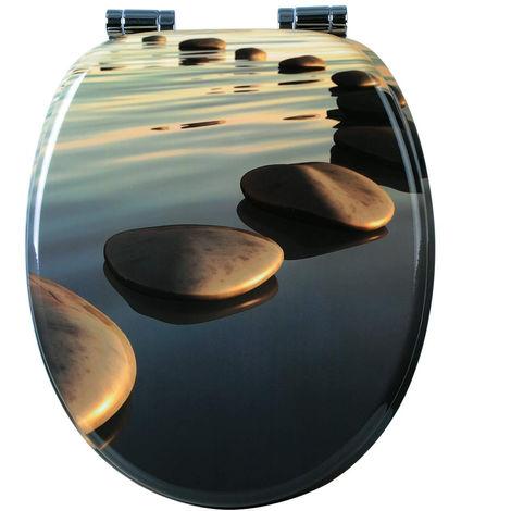 WC-Sitz MDF mit Absenkautomatik Stones Grau