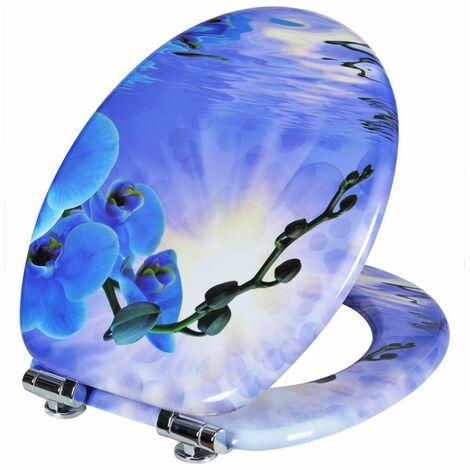 WC-Sitz MDF Orchidee Blau mit Absenkautomatik