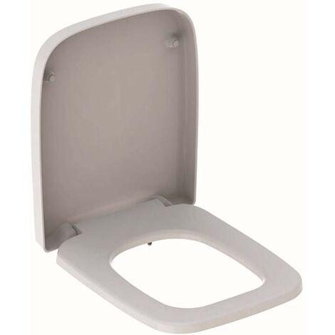 WC-Sitz Renova Nr.1 Plan we, Scharn. Edelstahl, mit Deckel, eckig