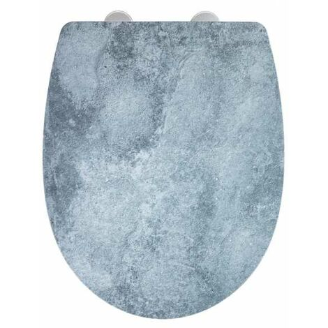 Wc Sitz Toilettendeckel Klodeckel Toilettensitz Absenkautomatik Premium Cement