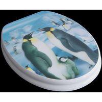 WC- Sitz Toilettendeckel Toilettensitz Klodeckel 3 D Pinguin mit Absenkautomatik