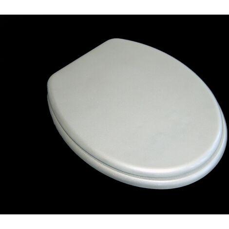 WC- Sitz Toilettendeckel Toilettensitz Klodeckel Amalfi silber