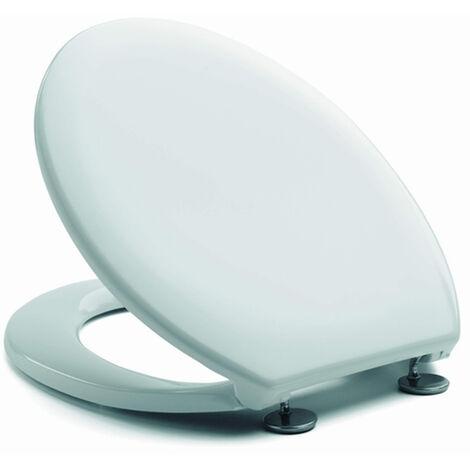 WC-Sitz Toilettendeckel Weiß Mod. Neu Europa Edelstahl
