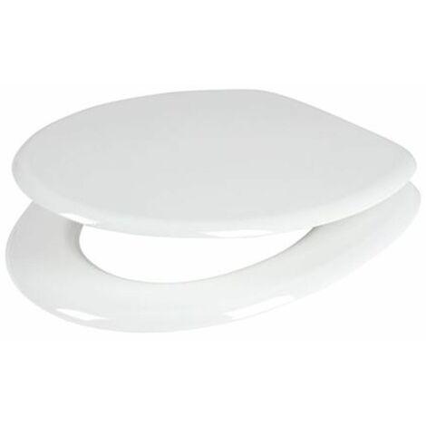 WC-Sitz weiß Toilettendeckel Klodeckel Toilettensitz Klobrille MDF Brille Deckel