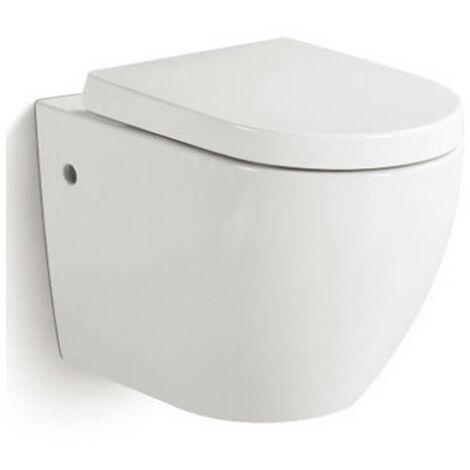 Wc Sospeso In Ceramica 36x55x33 Cm Vorich Vortix Bianco