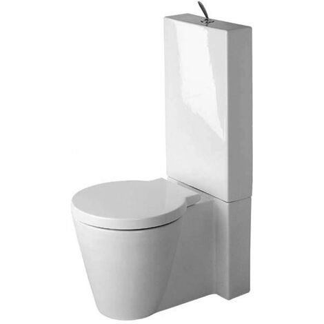 """main image of """"WC sur pied Duravit Starck 1, 640mm, fixation comprise, Coloris: Blanc avec Wondergliss - 02330900641"""""""