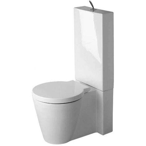 WC sur pied Duravit Starck 1, 640mm, fixation comprise, Coloris: Blanc avec Wondergliss - 02330900641