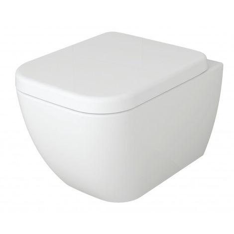 WC suspendu à fond creux - cuvette sans bride 101R - abattant siège Softclose