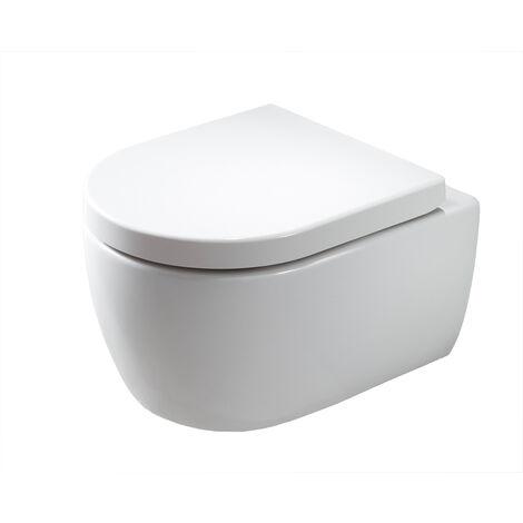 WC suspendu à fond creux sans bride NANO NT2039 - abattant Softclose inclus