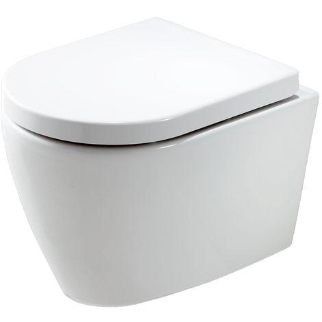 WC suspendu B-8030 - blanc - abattant softclose inclus
