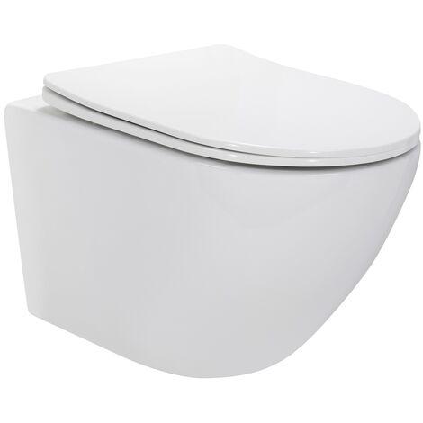 WC suspendu design avec abattant soft close -