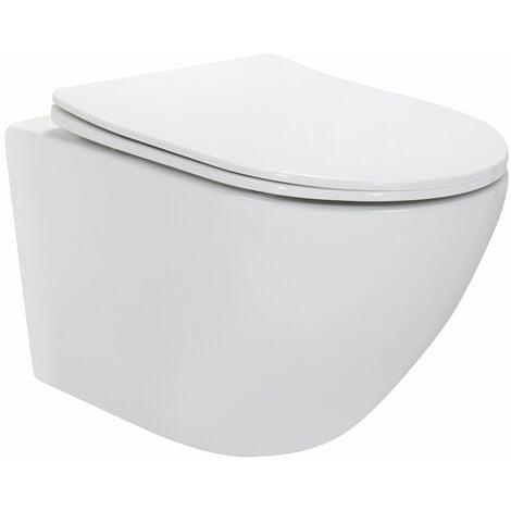 WC suspendu design avec abattant soft close - CARAPELLE