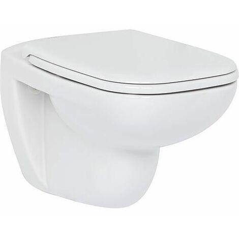 WC suspendu Duravit D-Code sans bord de rincage, blanc