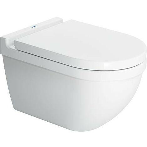 WC suspendu Duravit Starck 3 en profondeur, sans rebords blanc