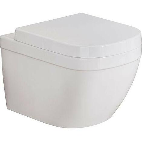 WC suspendu Grohe Euro blanc, sans bord de rincage lxpxh: 374x540x361mm