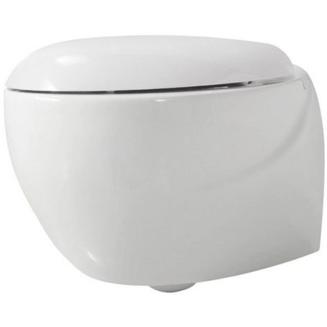 Azzurra Ceramica Clas.Wc Suspendu Mini En Ceramique 38 5x50 Azzurra Ceramica Clas Blanc Brillant