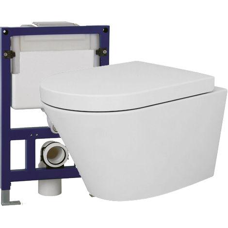 WC suspendu offre spéciale pack économique 24: NT2040 - bâti-support G3005 et plaque de déclenchement