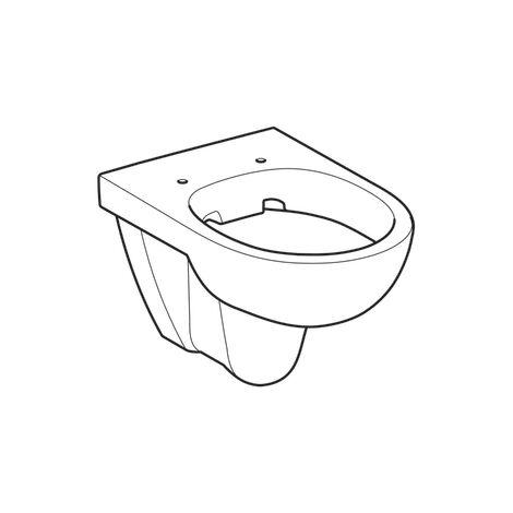 WC suspendu rimfree sans bride DITO - Geberit