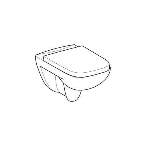 WC suspendu rimfree sans bride RENOVA PLAN avec abattant frein de chute - Geberit