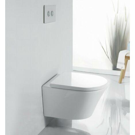 WC suspendu sans bride 1088R - Abattant Softclose inclus