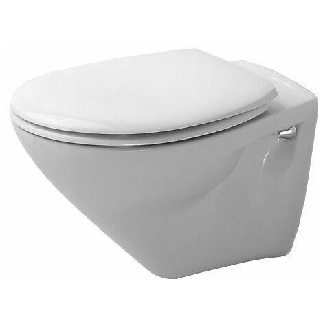 WC suspendus Duravit Cascade de Duraplus, Coloris: Blanc avec Wondergliss - 02060900001