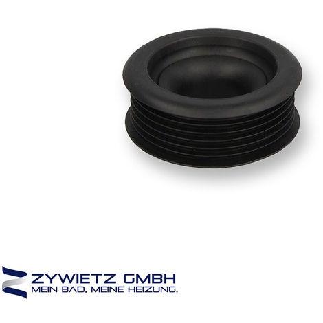 WC-Verbinder an 55 mm Innenstutzen, Ø Rohr 38-45 mm, schwarz