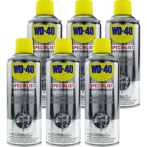 WD-40 - Abrillantador de silicona SPECIALIST MOTORBIKE 400 ml (caja de 6 uds)