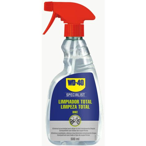 WD40 Bike Limpiador Total para Bicicleta - Pulverizador 500ml, Ciclismo