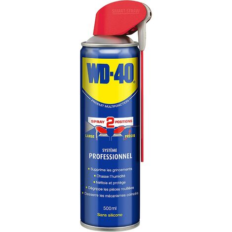 WD40 Dégrippant multifonction WD-40 spray double position 500ml