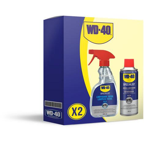 WD40 LOTE MOTO Abrillantador de silicona + limpiador total