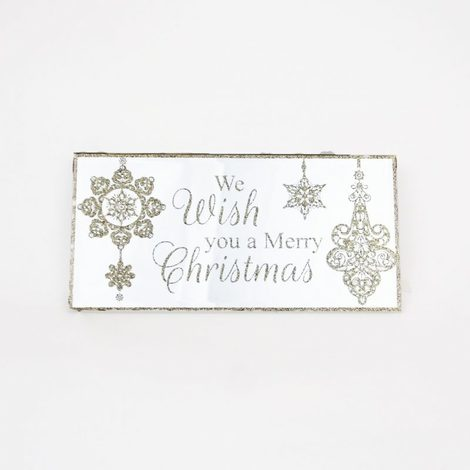 We wish you a Merry Christmas Mirrored Plaque