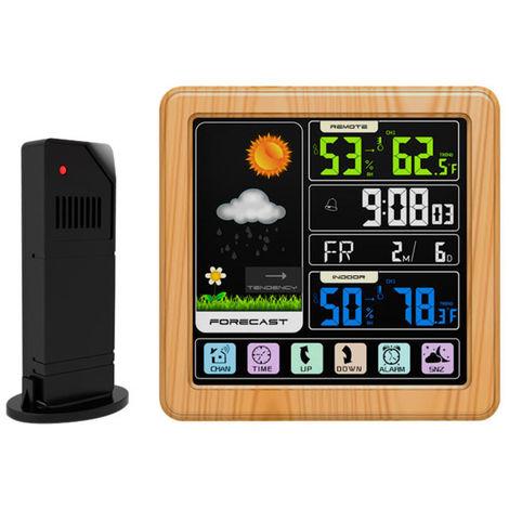 Weather Station Alarm Clock Indoor & Outdoor Thermometer Hygrometer