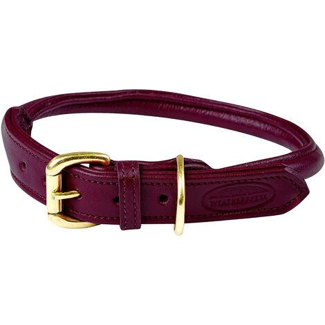 Weatherbeeta Rolled Leather Dog Collar