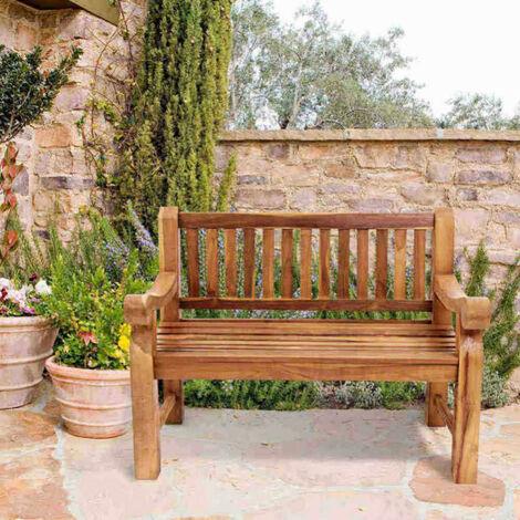"main image of ""Weatherproof 2-Seater Garden Hardwood Bench Seat - Conservatory Patio Decking"""