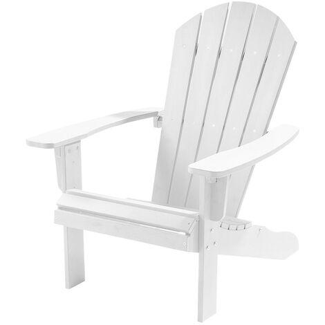Weatherproof Bjorn Outdoor Polywood Adirondack Chair - Garden Patio (White)
