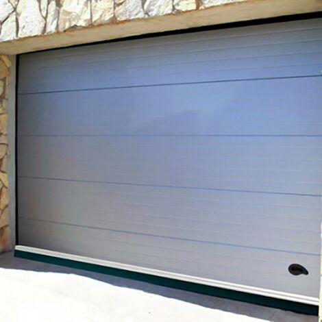 Weatherstrip Garage Screws Lips 250Cm Aluminium White Burcasa 127451