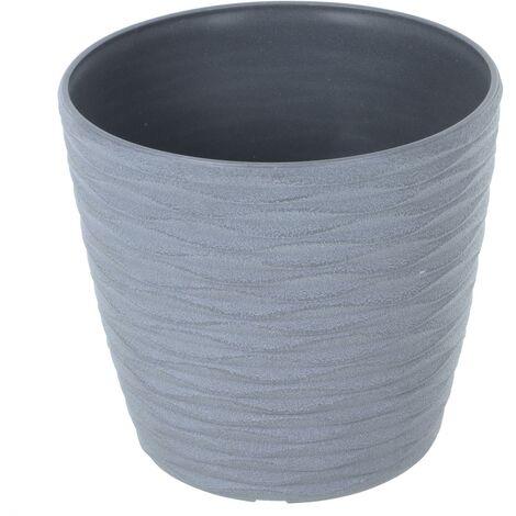 Weave Effect Plant Pot Grey 22cm