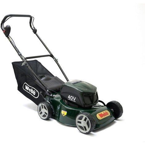 Webb 41cm/16in Push, Steel Deck, 4-heel Cordless Rotary Lawnmower