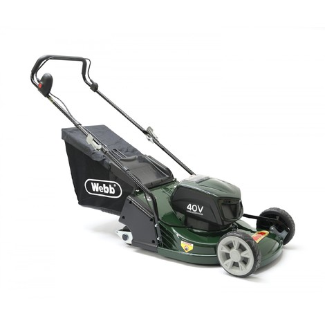 Webb 43cm/17in Push Cordless Rear Roller Rotary Lawnmower
