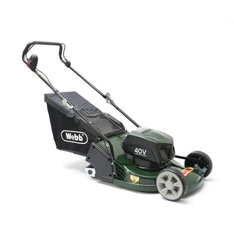 Webb R17LIP Cordless 40v 2-Wheel Push Rotary Lawn Mower with Battery