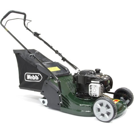 Webb RR17P Petrol Push Rear Roller Rotary Lawn Mower 43cm/17in