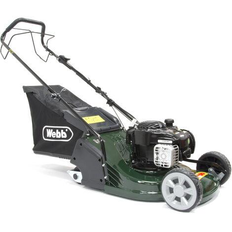 Webb RR17SP Petrol Self Propelled Rear Roller Rotary Lawn Mower 43cm/17in
