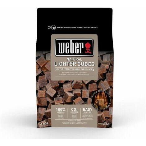 WEBER Cubes allume-feux - Boite de 48 cubes (box de 15) - Brun