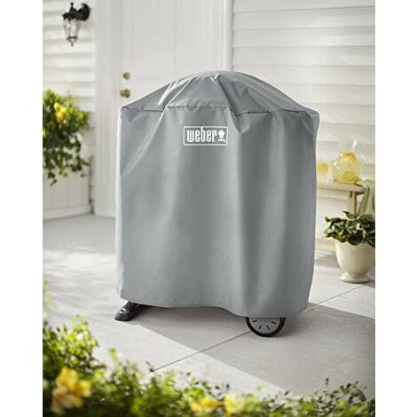 Weber Housse de Grill, Compatible avec Q 100/1000 et 200/2000 à l'aide d'un Support ou d'un Chariot, Noir