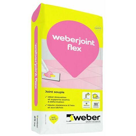 WEBER. JOINT FLEX - Sac de 5 Kg - GRIS PERLE